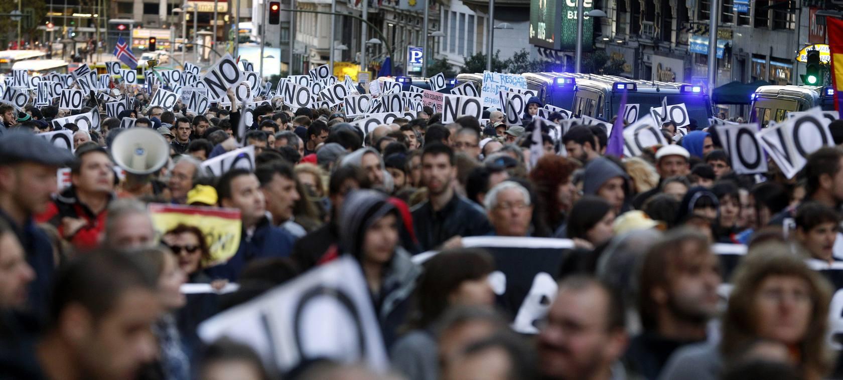 El 25S protesta contra los Presupuestos