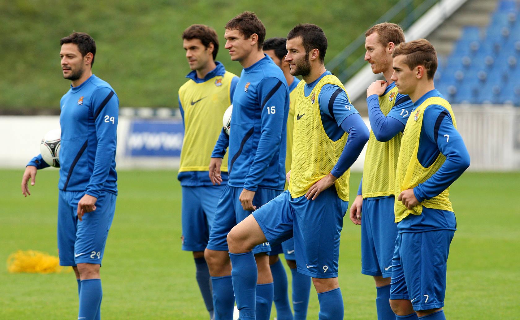 La Real prepara los penaltis para el partido de Copa