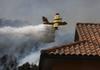 Extinción de las llamas en Collado Mediano