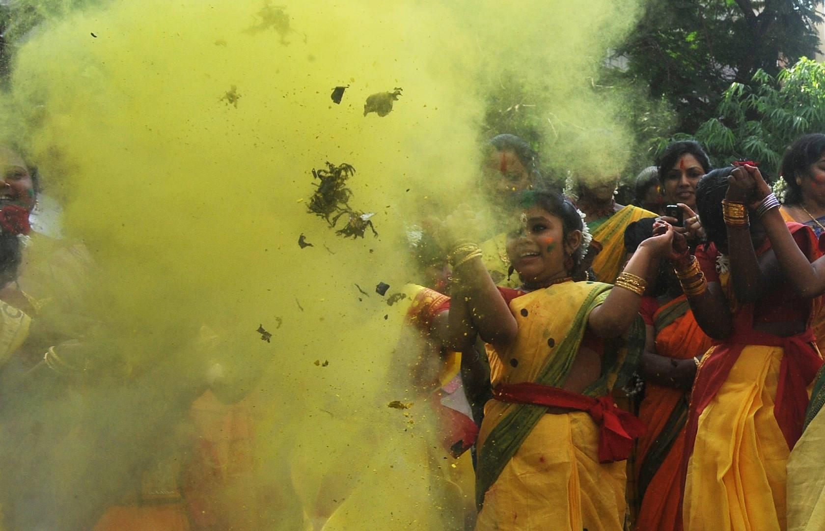 Una India a todo color