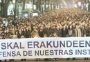 Manifestación en Bilbao en apoyo a Ibarretxe