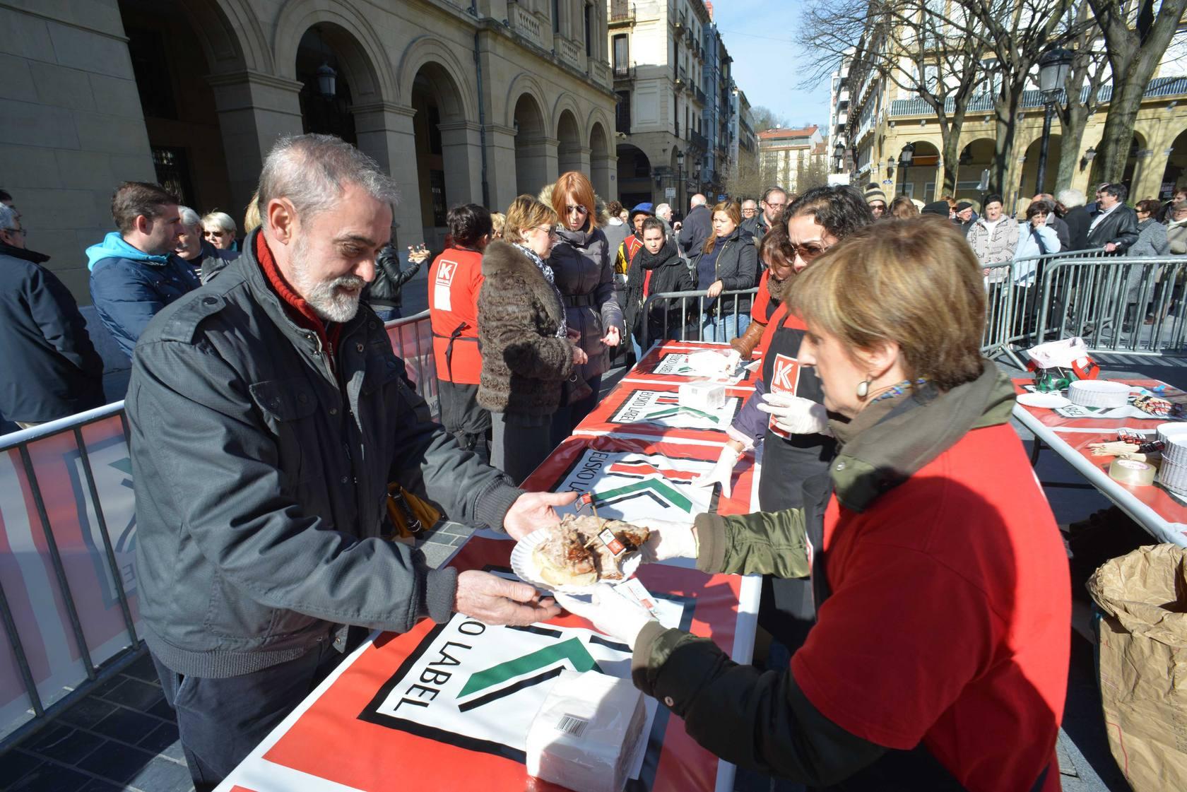 Fiesta del cordero lechal con Eusko Label en San Sebastian